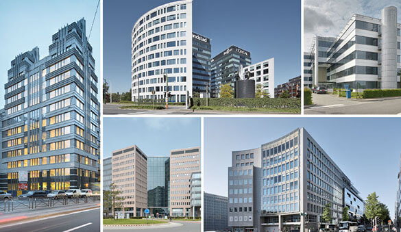 Office space in Berchem and 45 other cities in Belgium