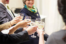 Meet like-minded professionals at our monthly social events