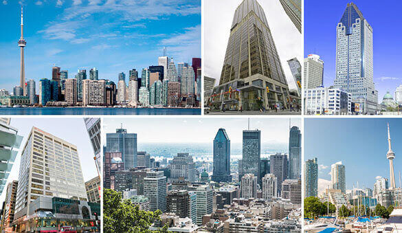 Office space in Toronto and 128 other cities in Canada