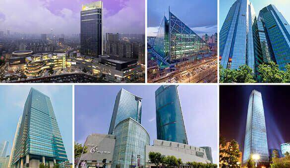 Office space in Shanghai and 124 other cities in China