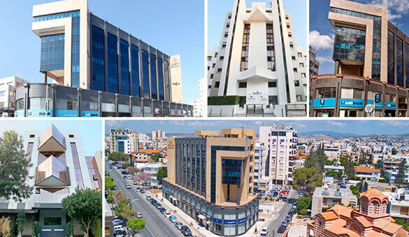 Office space in Limassol and 2 other cities in Cyprus