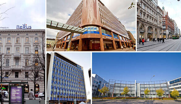 Office space in Espoo and 32 other cities in Finland