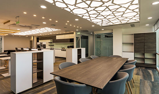 Office facilities in professional business environments