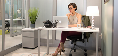 Interior offices in Mizner Park provide low cost office space