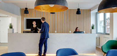 Meeting and office facilities at Basel, Grosspeter Tower
