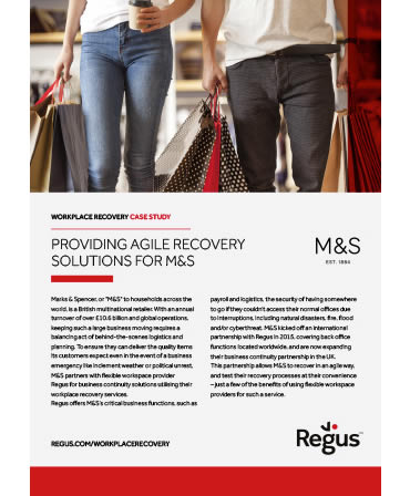 Regus Disaster Recovery Service Example - M&S