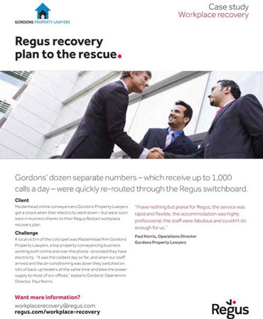 Regus Disaster Recovery Service News