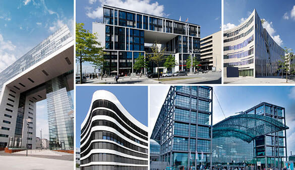 Office space in Dusseldorf and 128 other cities in Germany