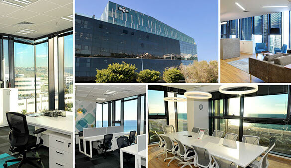 Office space in Tel Aviv and 16 other cities in Israel