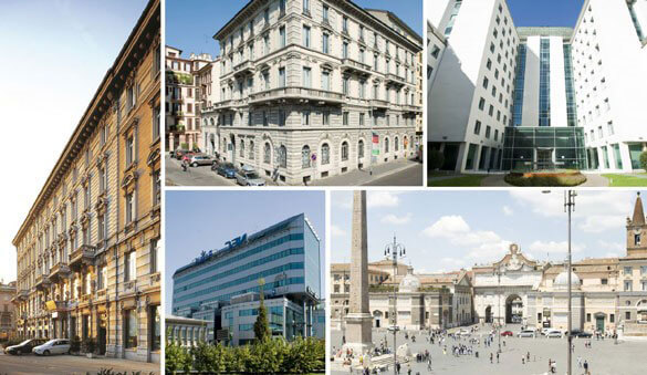 Office space in Rome and 53 other cities in Italy