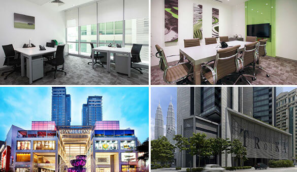 Virtual offices in Petaling Jaya and 32 other cities in Malaysia
