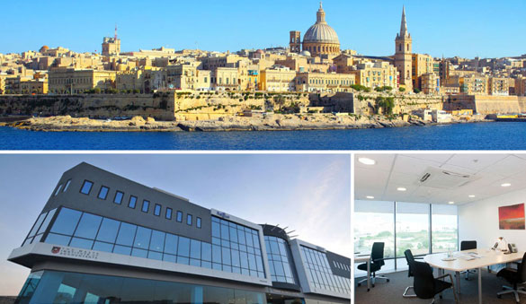Virtual offices in St Julian's and 2 other cities in Malta