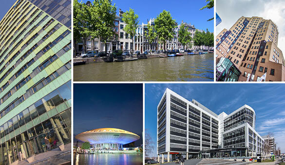 Office space in Amsterdam and 76 other cities in Netherlands