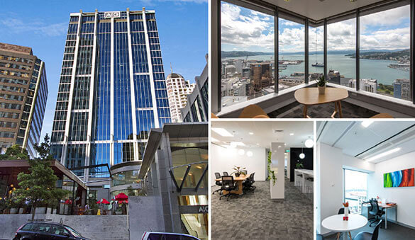 Office space in Wellington and 21 other cities in New Zealand