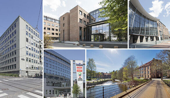 Office space in Oslo and 19 other cities in Norway