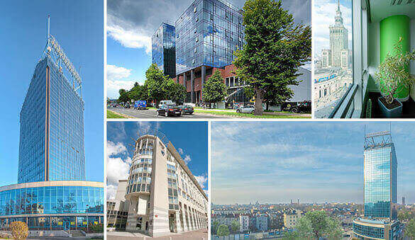 Office space in Warsaw and 26 other cities in Poland