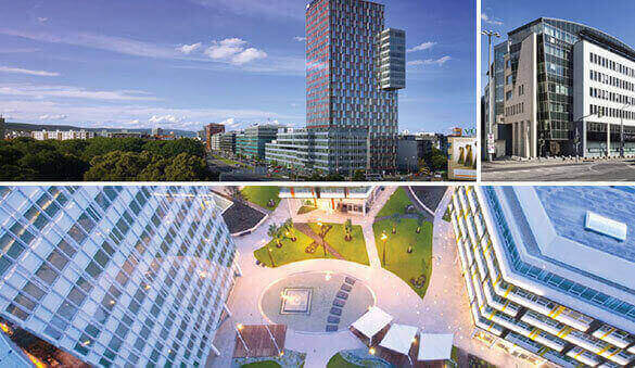 Office space in Bratislava and 4 other cities in Slovakia