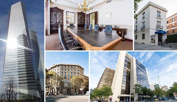 Office space in Madrid and 56 other cities in Spain