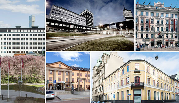 Office space in Solna and 23 other cities in Sweden