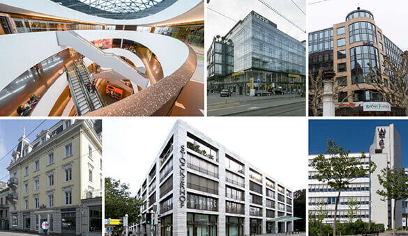 Office space in Basel and 33 other cities in Switzerland