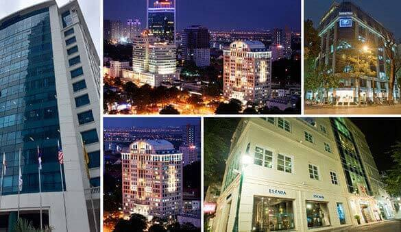 Office space in Ho Chi Minh City and 8 other cities in Vietnam
